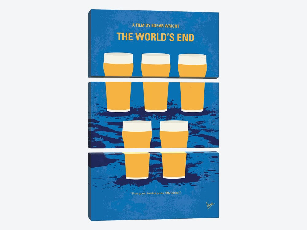 The World's End Minimal Movie Poster by Chungkong 3-piece Art Print