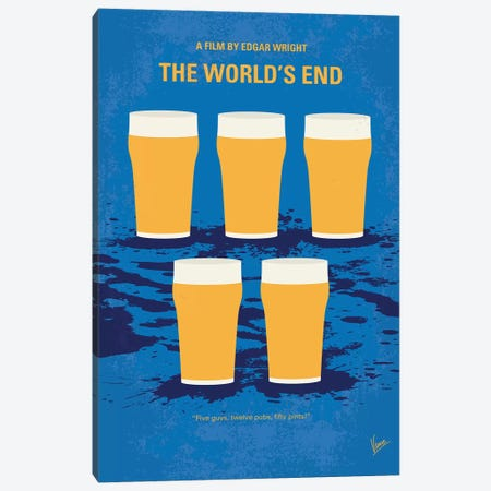 The World's End Minimal Movie Poster 3-Piece Canvas #CKG1075} by Chungkong Canvas Art