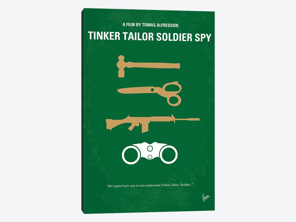 Tinker Tailor Soldier Spy Minimal Movie Poster by Chungkong 1-piece Canvas Art