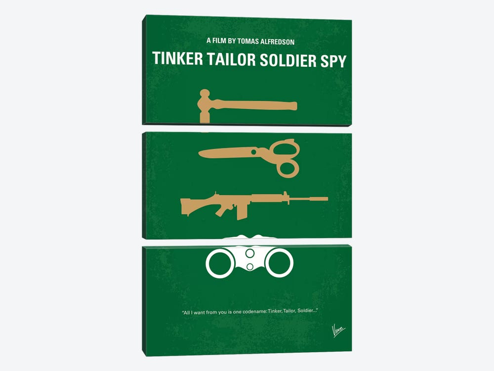 Tinker Tailor Soldier Spy Minimal Movie Poster by Chungkong 3-piece Canvas Wall Art
