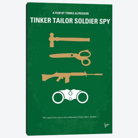Tinker Tailor Soldier Spy Minimal Movie Poster Canvas Print #CKG1076} by Chungkong Canvas Wall Art