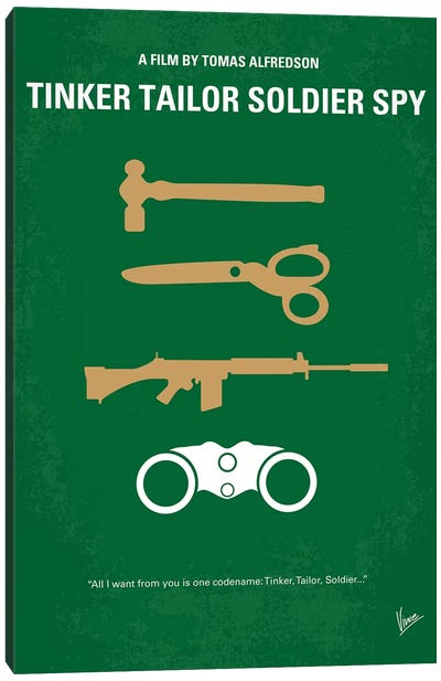 Tinker Tailor Soldier Spy Minimal Movie Poster Canvas Art Print