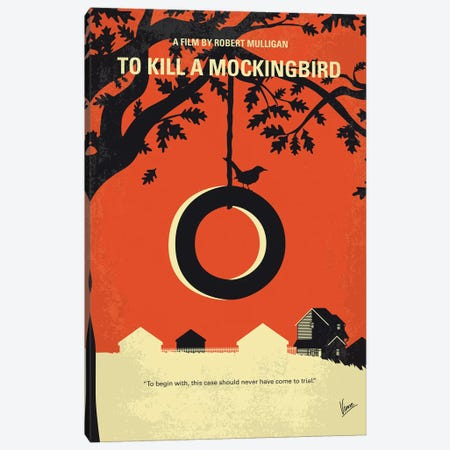 To Kill A Mockingbird Minimal Movie Poster Canvas Print #CKG1077} by Chungkong Canvas Wall Art