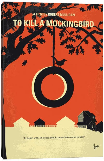 To Kill A Mockingbird Minimal Movie Poster Canvas Art Print