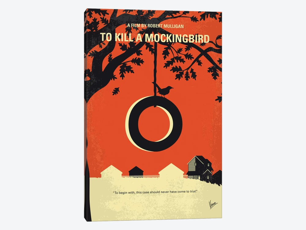 To Kill A Mockingbird Minimal Movie Poster 1-piece Canvas Print