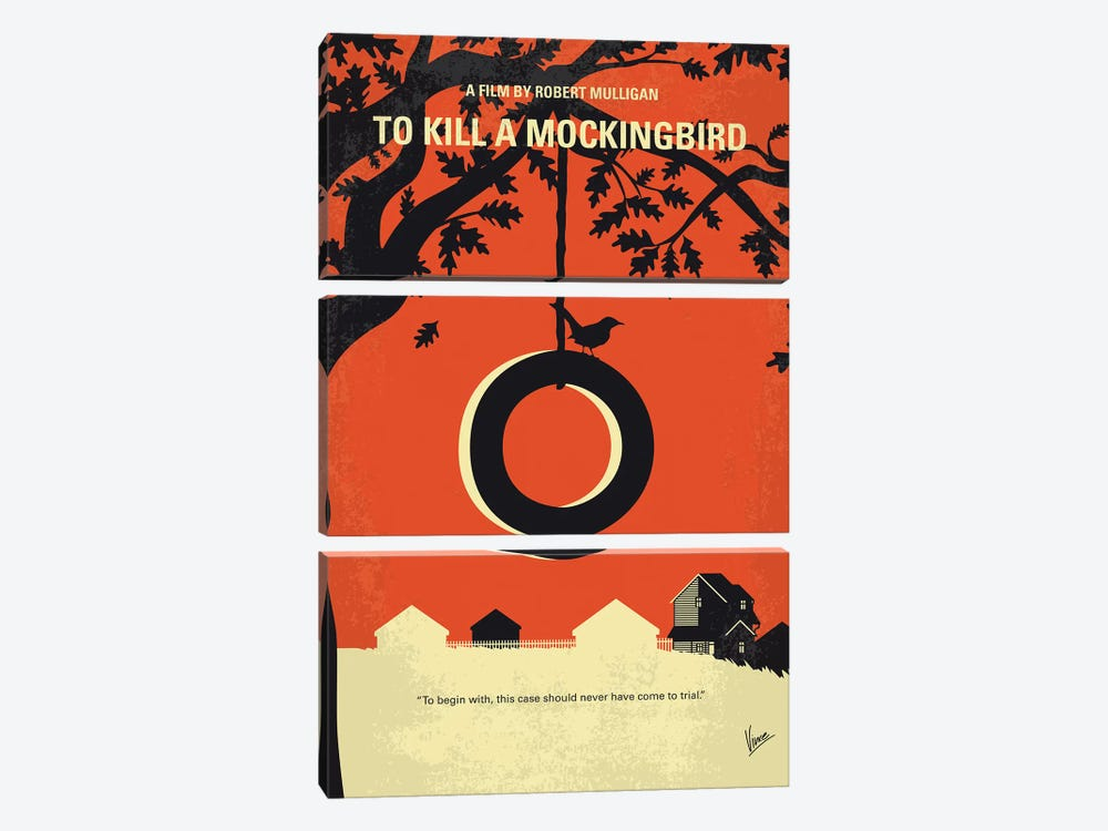 To Kill A Mockingbird Minimal Movie Poster 3-piece Canvas Print