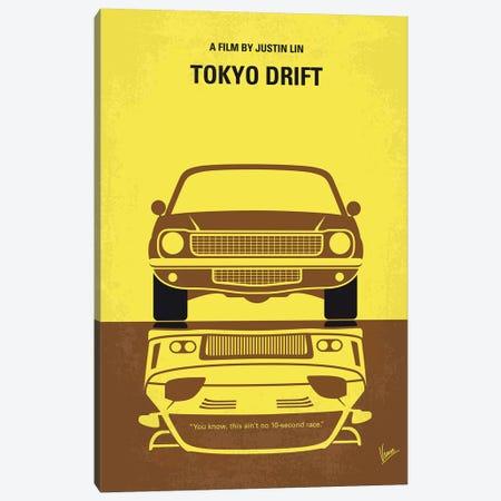 Tokyo Drift Minimal Movie Poster Canvas Print #CKG1078} by Chungkong Canvas Print