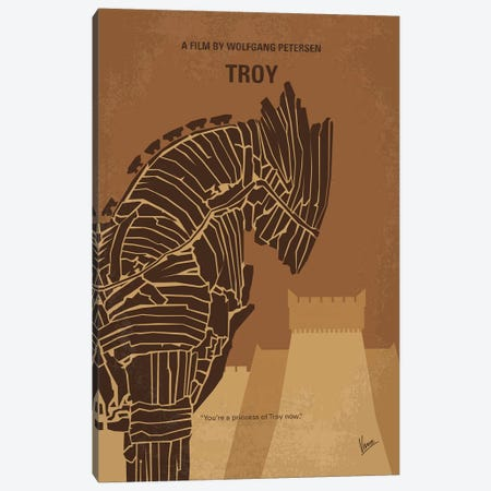Troy Minimal Movie Poster Canvas Print #CKG1081} by Chungkong Canvas Artwork