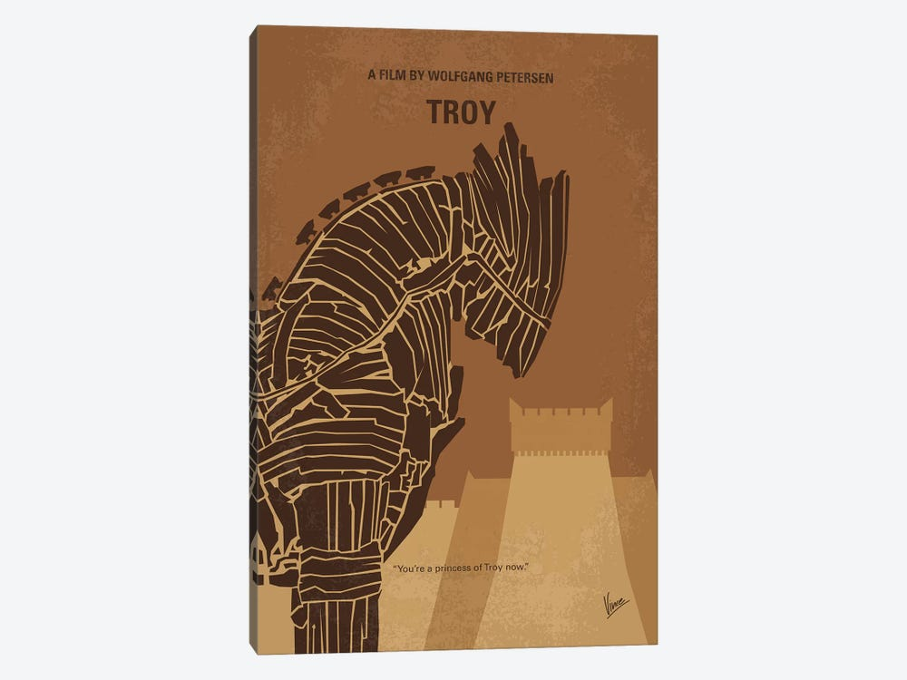 Troy Minimal Movie Poster by Chungkong 1-piece Canvas Wall Art