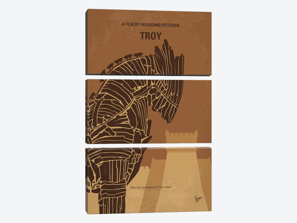 Troy Minimal Movie Poster by Chungkong 3-piece Canvas Artwork