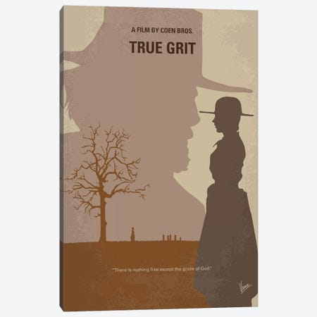 True Grit Minimal Movie Poster Canvas Print #CKG1082} by Chungkong Canvas Artwork