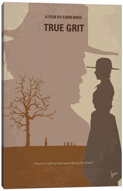True Grit Minimal Movie Poster Canvas Art Print