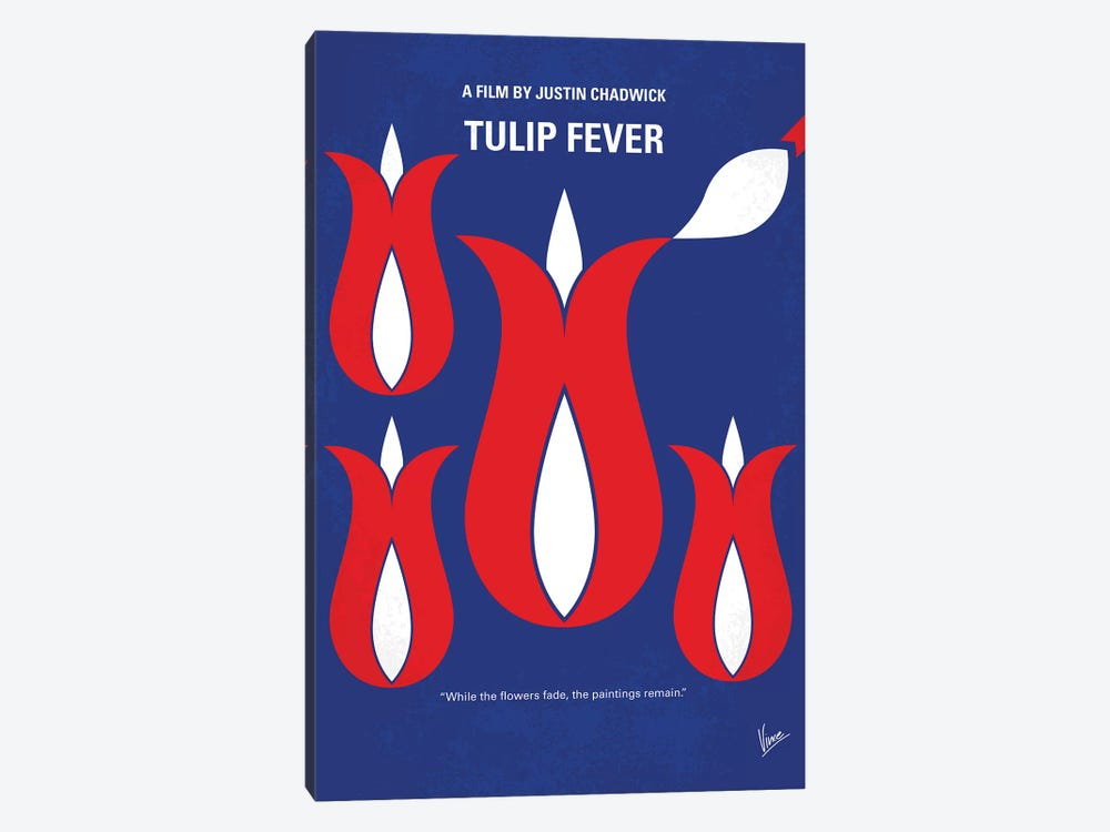 Tulip Fever Minimal Movie Poster by Chungkong 1-piece Canvas Wall Art