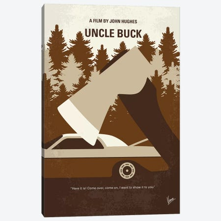 Uncle Buck Minimal Movie Poster Canvas Print #CKG1084} by Chungkong Art Print