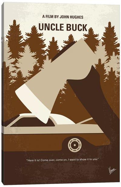Uncle Buck Minimal Movie Poster Canvas Art Print