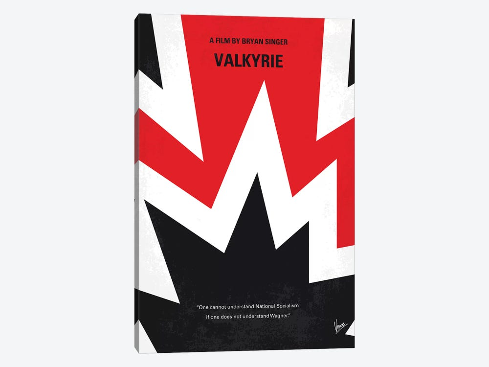 Valkyrie Minimal Movie Poster by Chungkong 1-piece Canvas Art