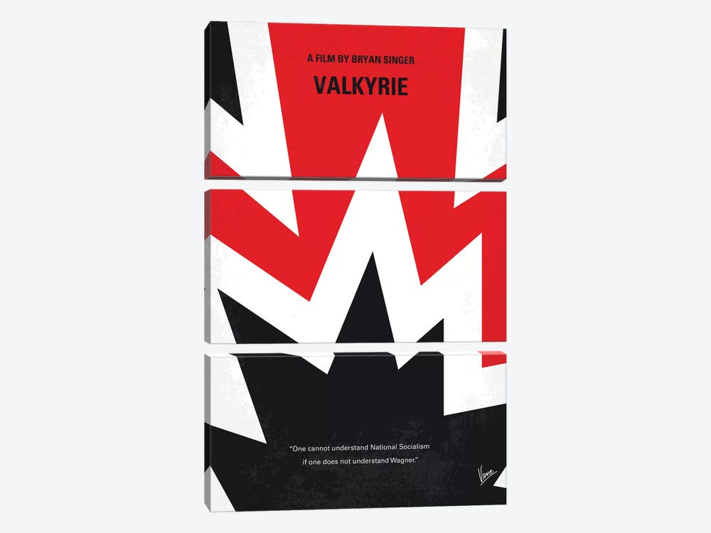 Valkyrie Minimal Movie Poster by Chungkong 3-piece Canvas Wall Art