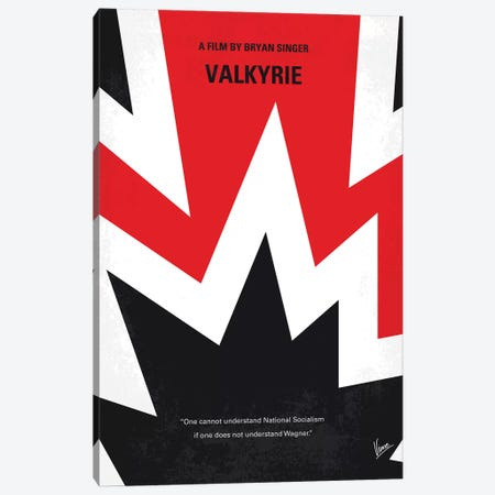 Valkyrie Minimal Movie Poster Canvas Print #CKG1085} by Chungkong Canvas Art Print