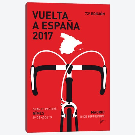 Vuelta a España Minimal Poster 2017 Canvas Print #CKG1088} by Chungkong Canvas Wall Art