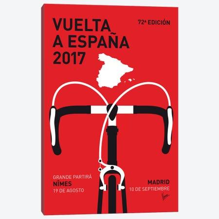 Vuelta a España Minimal Poster 2017 Canvas Print #CKG1088} by Chungkong Canvas Wall Art