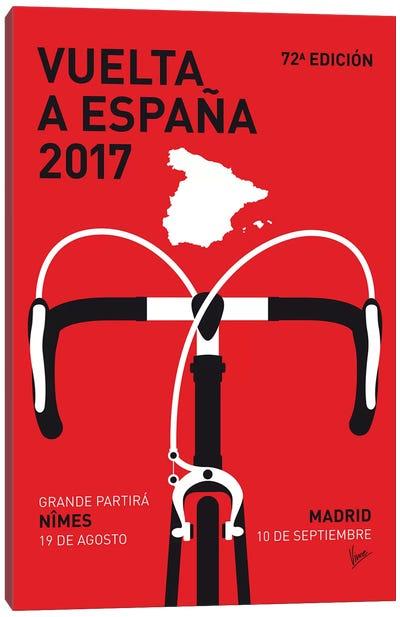 Vuelta a España Minimal Poster 2017 Canvas Art Print