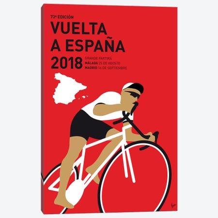 Vuelta a España Minimal Poster 2018 3-Piece Canvas #CKG1089} by Chungkong Canvas Art
