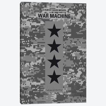 War Machine Minimal Movie Poster Canvas Print #CKG1090} by Chungkong Canvas Art Print