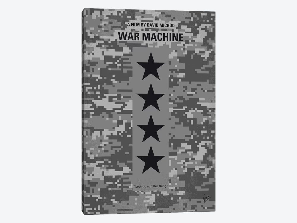 War Machine Minimal Movie Poster by Chungkong 1-piece Canvas Art