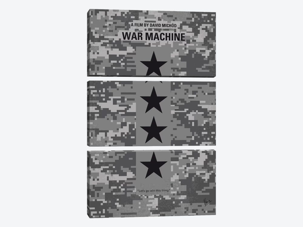 War Machine Minimal Movie Poster 3-piece Canvas Wall Art