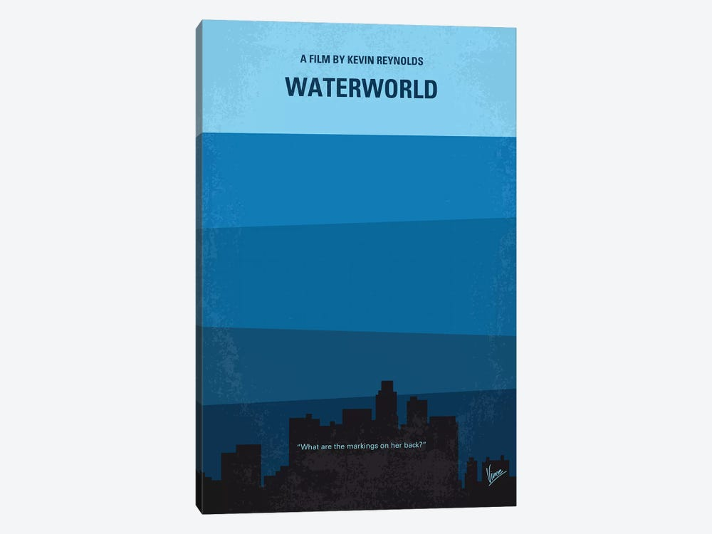 Waterworld Minimal Movie Poster by Chungkong 1-piece Canvas Print