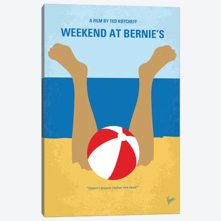 Weekend At Bernie's Minimal Movie Poster Canvas Print #CKG1092} by Chungkong Canvas Art Print