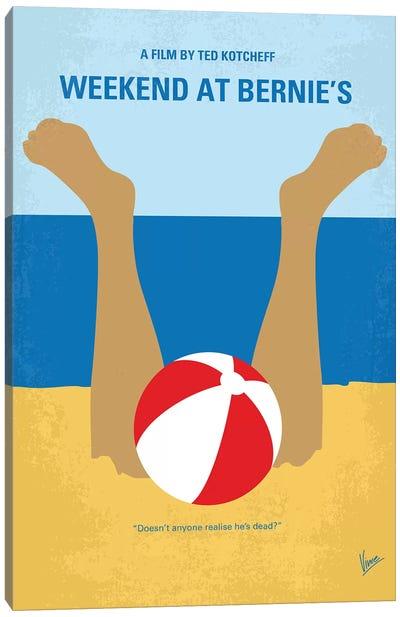 Weekend At Bernie's Minimal Movie Poster Canvas Art Print