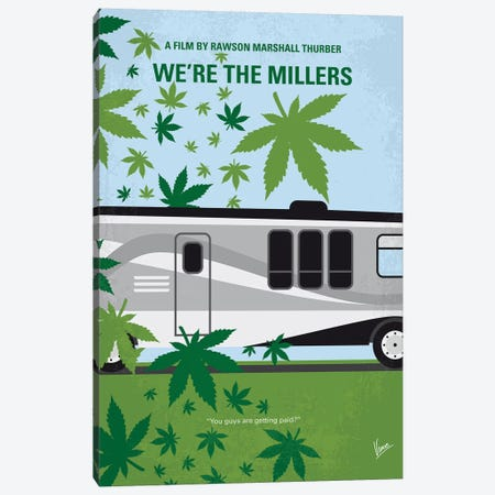 We're The Millers Minimal Movie Poster Canvas Print #CKG1093} by Chungkong Art Print