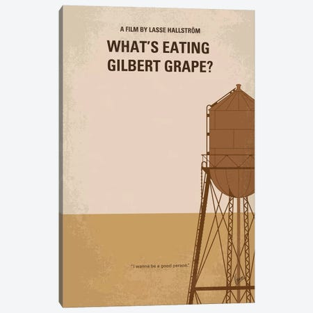 What's Eating Gilbert Grape Minimal Movie Poster Canvas Print #CKG1094} by Chungkong Canvas Art