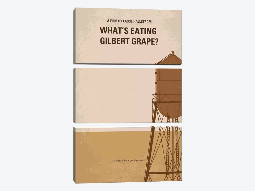 What's Eating Gilbert Grape Minimal Movie Poster by Chungkong 3-piece Canvas Art
