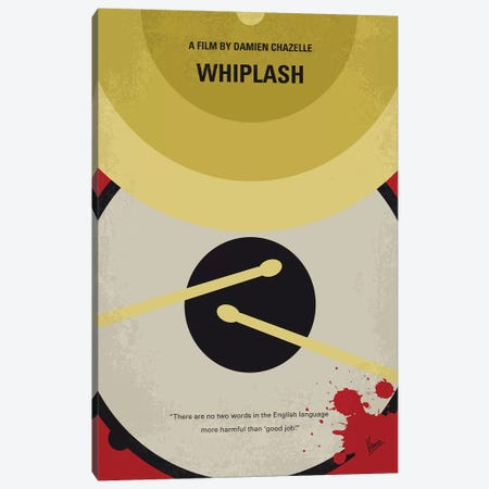 Whiplash Minimal Movie Poster Canvas Print #CKG1095} by Chungkong Canvas Artwork
