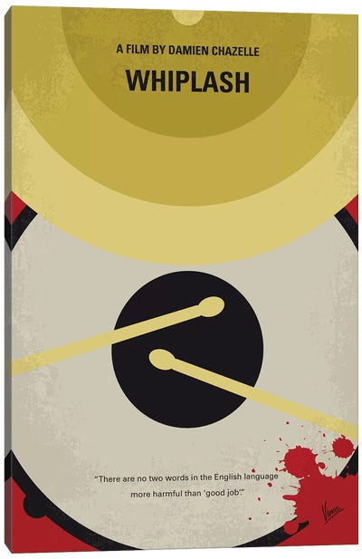 Whiplash Minimal Movie Poster Canvas Art Print