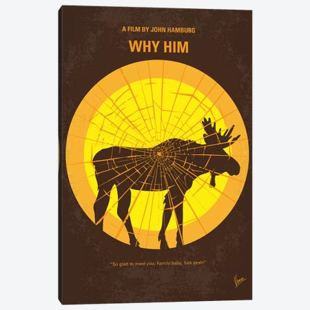 Why Him Minimal Movie Poster Canvas Print #CKG1096} by Chungkong Canvas Wall Art