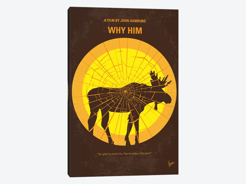 Why Him Minimal Movie Poster by Chungkong 1-piece Canvas Art