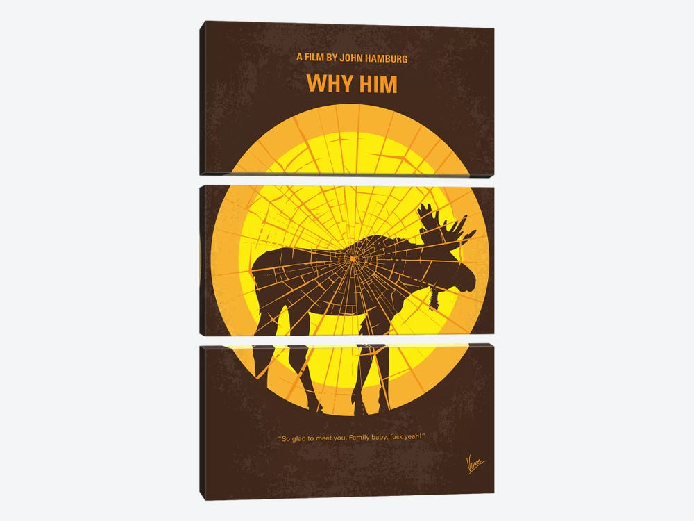 Why Him Minimal Movie Poster by Chungkong 3-piece Canvas Wall Art