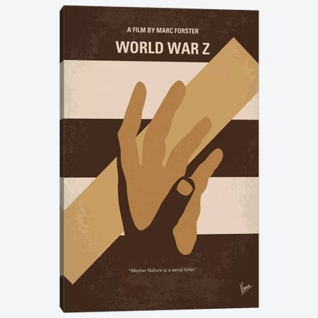 World War Z Minimal Movie Poster Canvas Print #CKG1097} by Chungkong Canvas Wall Art