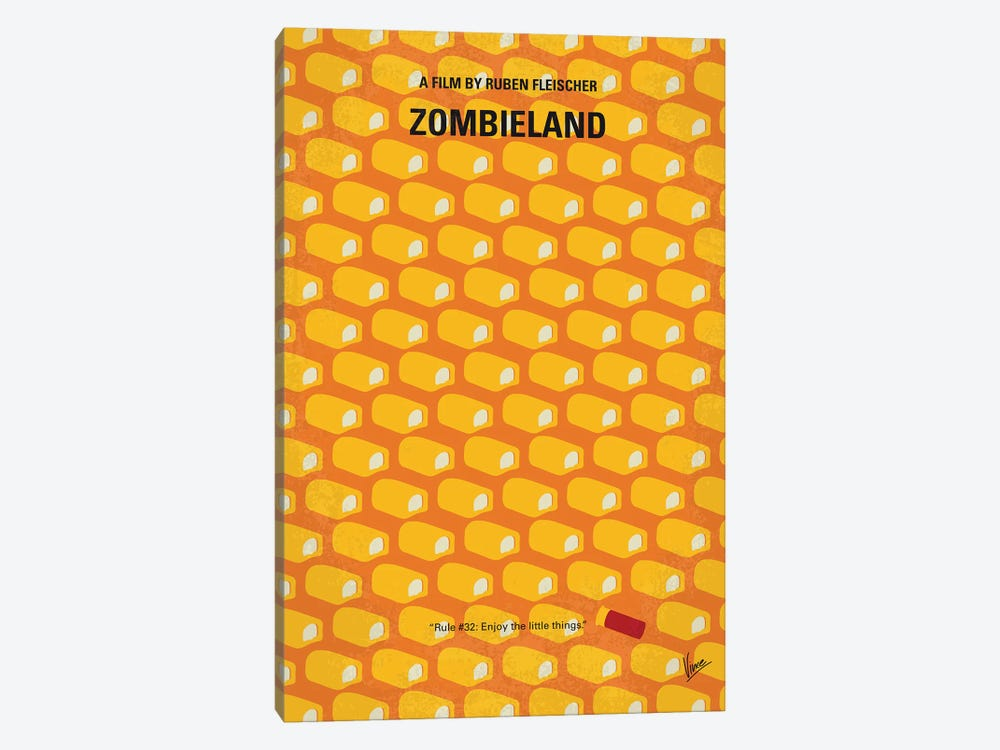 Zombieland Minimal Movie Poster by Chungkong 1-piece Canvas Wall Art