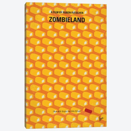Zombieland Minimal Movie Poster Canvas Print #CKG1098} by Chungkong Canvas Print
