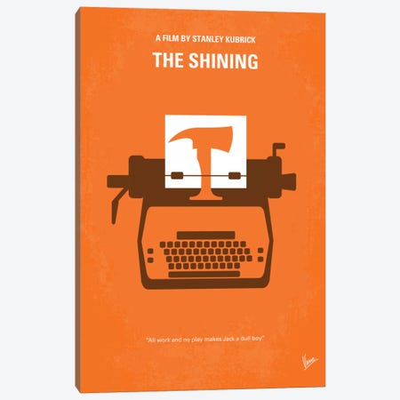 The Shining Minimal Movie Poster Canvas Print #CKG109} by Chungkong Canvas Artwork