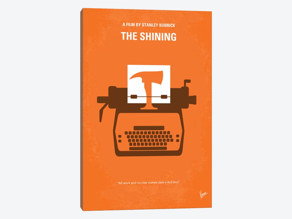 The Shining Minimal Movie Poster by Chungkong 1-piece Canvas Print