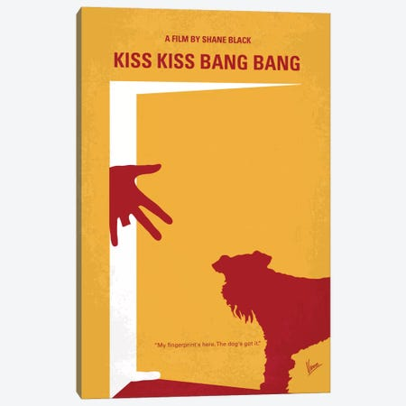 Kiss Kiss Bang Bang Minimal Movie Poster Canvas Print #CKG10} by Chungkong Canvas Art