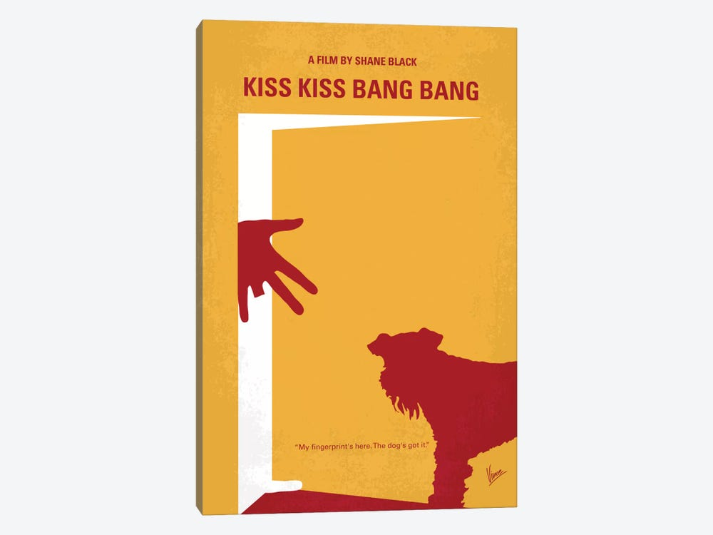Kiss Kiss Bang Bang Minimal Movie Poster by Chungkong 1-piece Canvas Art