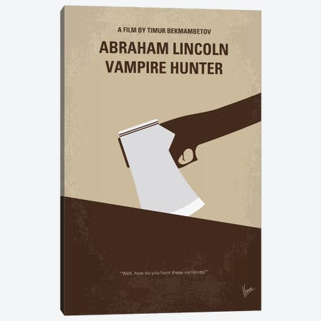 Abraham Lincoln Vampire Hunter Minimal Movie Poster Canvas Print #CKG1100} by Chungkong Art Print