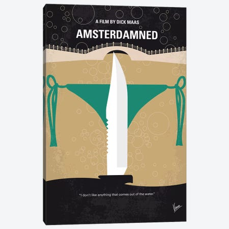 Amsterdamned Minimal Movie Poster Canvas Print #CKG1101} by Chungkong Canvas Print