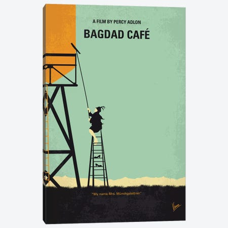 Bagdad Cafe Minimal Movie Poster Canvas Print #CKG1105} by Chungkong Canvas Artwork
